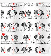 Couple in love together, valentine Poster