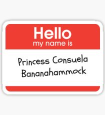Princess Consuela Bananahammock (Friends) Sticker