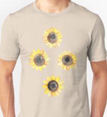 Cheerful Watercolor Sunflowers Unisex T-Shirt