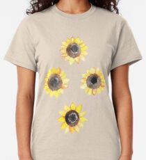 Cheerful Watercolor Sunflowers Classic T-Shirt