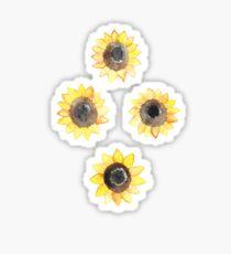 Fröhliche Aquarell Sonnenblumen Sticker