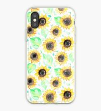 Cheerful Watercolor Sunflowers iPhone Case