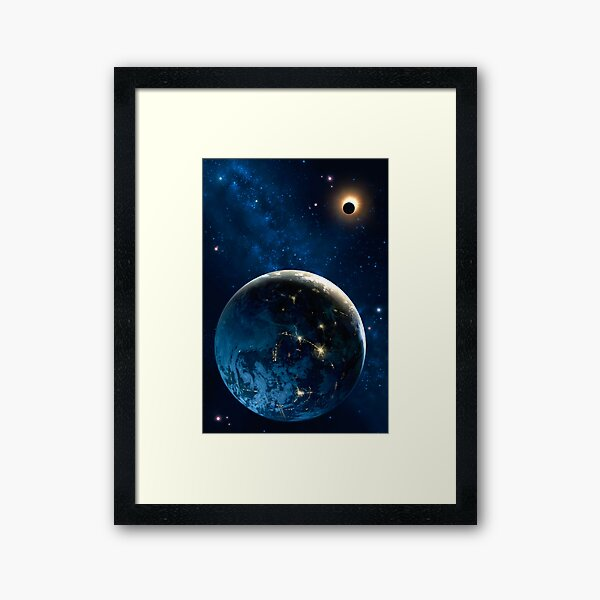 3001 Earth Odyssey Framed Art Print
