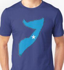 Somalia Map With Somalian Flag Unisex T-Shirt