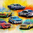 Group C Holden Toranas by Stuart Row