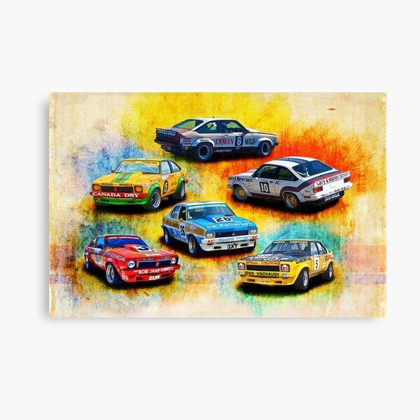 Group C Holden Toranas Canvas Print