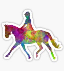Horse show 05 in watercolor Sticker