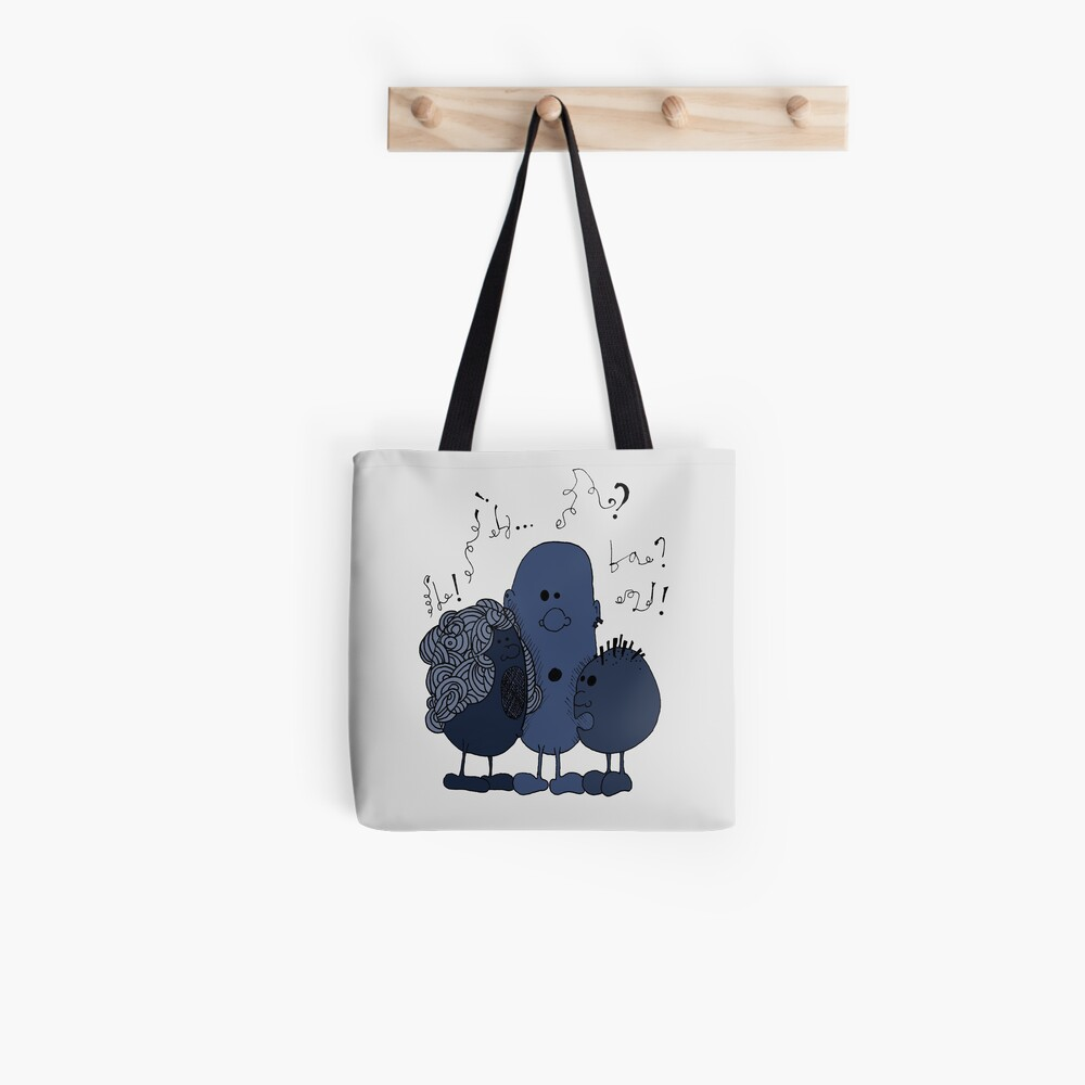 Blue beans speaking Tote Bag