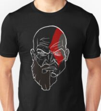 Kratos - Minimalist/Split Potrait Unisex T-Shirt