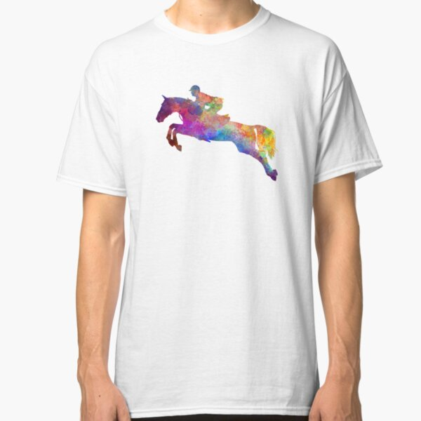 Horse show 06 in watercolor Classic T-Shirt