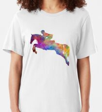 Horse show 06 in watercolor Slim Fit T-Shirt