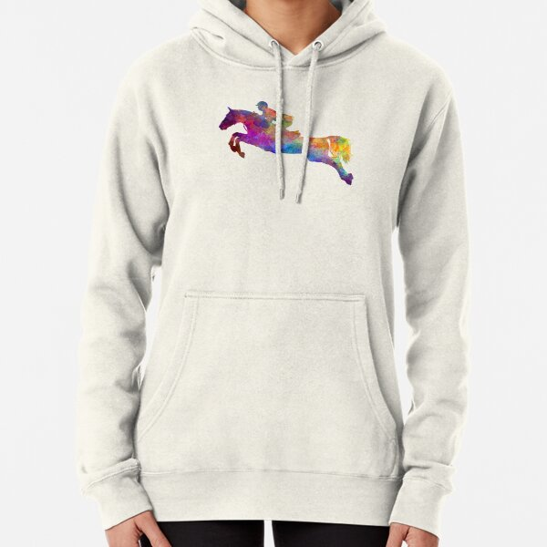 Horse show 06 in watercolor Pullover Hoodie