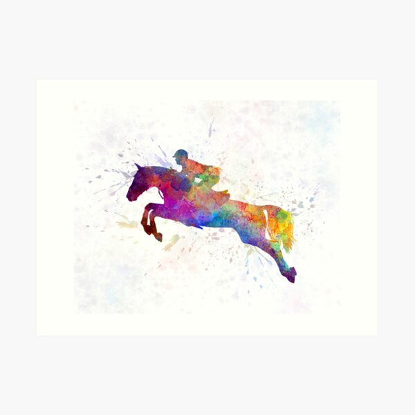 Horse show 06 in watercolor Art Print