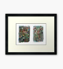 Hospital Napkin Diptych. Framed Print