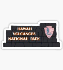Hawaiʻi Volcanoes National Park Sign, Hawaii, USA Sticker