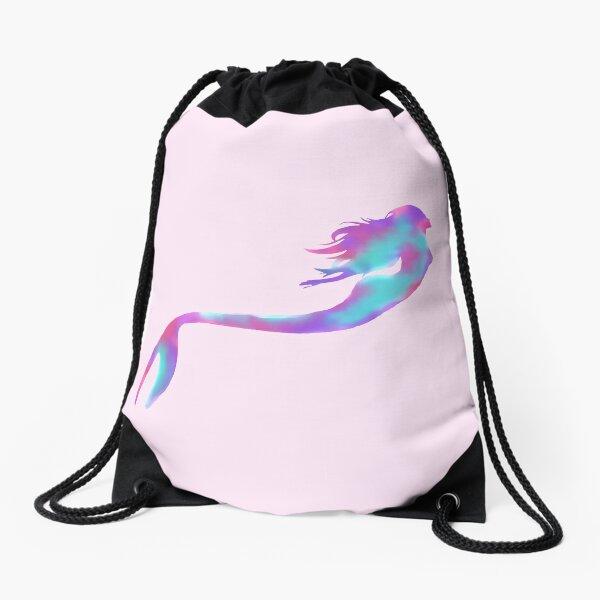 Rainbow mermaid Drawstring Bag