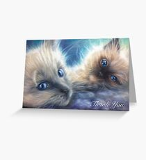 Ragdoll Kittens Thank You Card Greeting Card