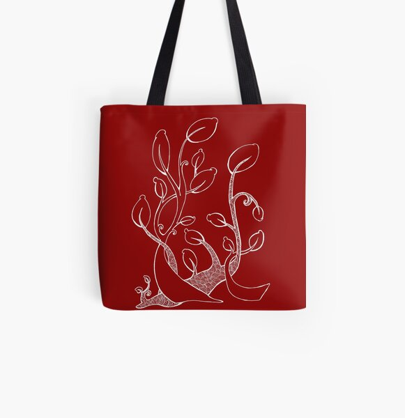 Spiral Plant All Over Print Tote Bag
