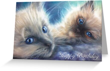 Ragdoll Kittens Birthday Card