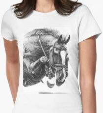 Catching Air - Showjumping Horse Women's Fitted T-Shirt