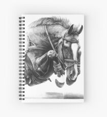 Catching Air - Showjumping Horse Spiral Notebook
