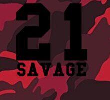 21 Savage Red Camo Sticker