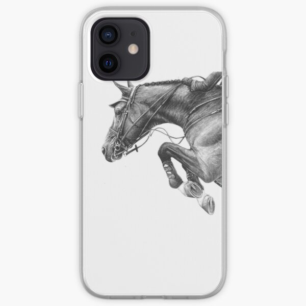 Flick - Showjumping Horse iPhone Soft Case