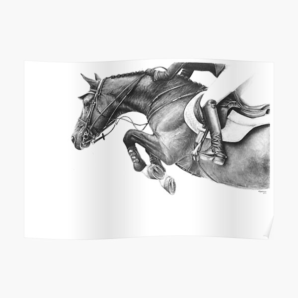 Flick - Showjumping Horse Poster