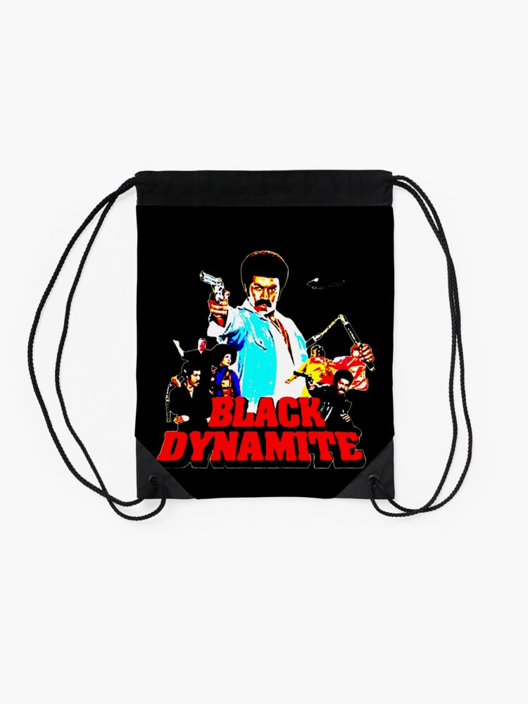 Alternate view of Black Dynamite Drawstring Bag