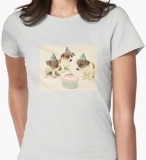 Vintage Puppy Birthday Card Womens Fitted T-Shirt