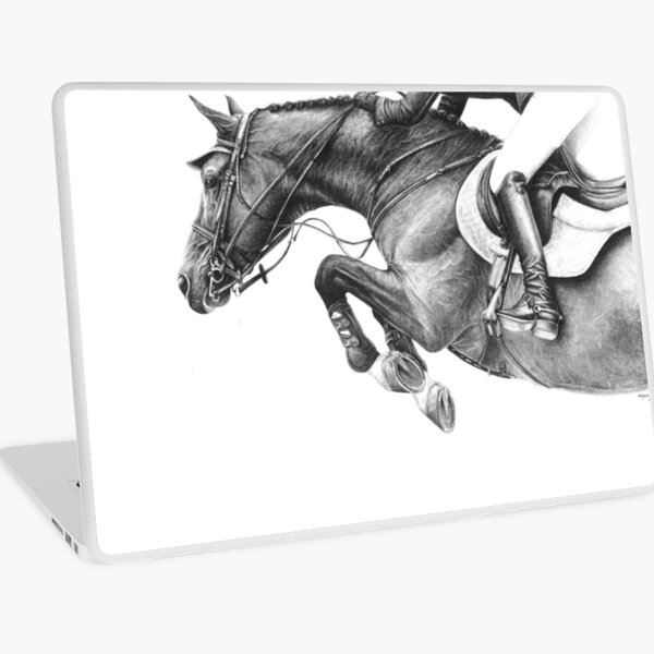 Flick - Showjumping Horse Laptop Skin
