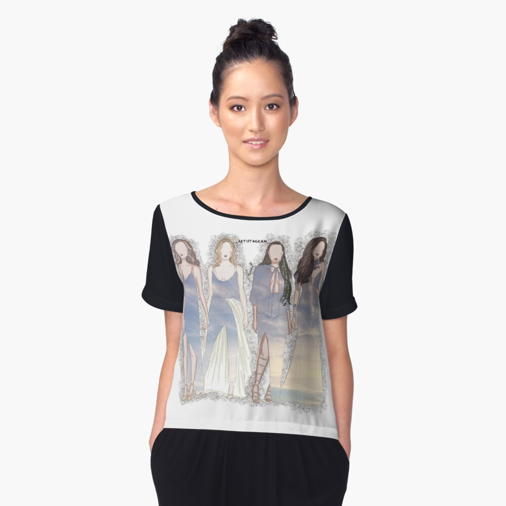Brits-LM Women's Chiffon Top Front