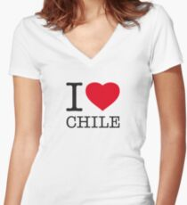 I ♥ CHILE Women's Fitted V-Neck T-Shirt