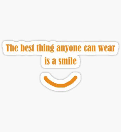 Wear A Smile Sticker