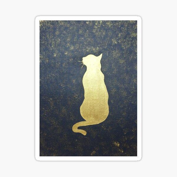 Golden cat Sticker