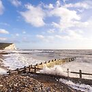 Powerful waves at Cuckmere Haven, East Sussex, UK by Zoe Power