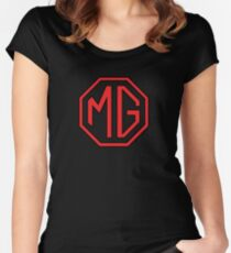 MG cars England Women's Fitted Scoop T-Shirt