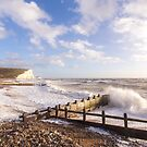 Crashing waves at Cuckmere Haven, East Sussex, UK by Zoe Power