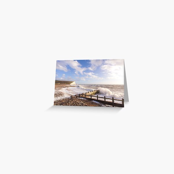 Crashing waves at Cuckmere Haven, East Sussex, UK Greeting Card