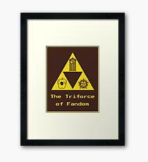 The Triforce of Fandom (Superwholock) Framed Print