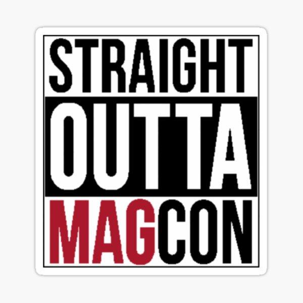 """""""Straight Outta Magcon"""" Logo Sticker"""