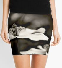 Clematis flower (in black and white) Mini Skirt