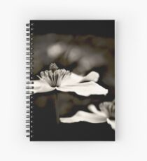Clematis flower (in black and white) Spiral Notebook