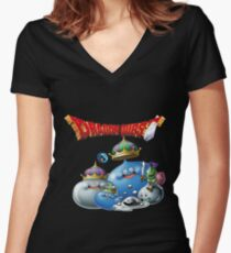 Dragon Quest - slime Women's Fitted V-Neck T-Shirt