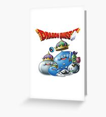 Dragon Quest - slime Greeting Card