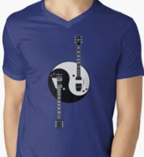 Guitar Yin Yang Mens V-Neck T-Shirt