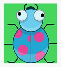 Funny Colorful Cute Little Bug Photographic Print