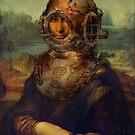 Steampunk Mona Lisa Diver's Helmet - Leonardo da Vinci by StrangeStore