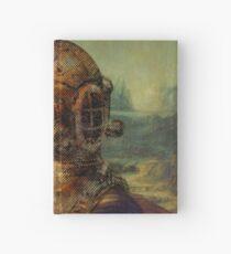 Steampunk Mona Lisa Diver's Helmet - Leonardo da Vinci Hardcover Journal