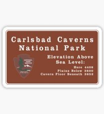 Carlsbad Caverns National Park Sign, New Mexico, USA Sticker